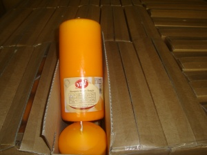 stumpenkerze-orange